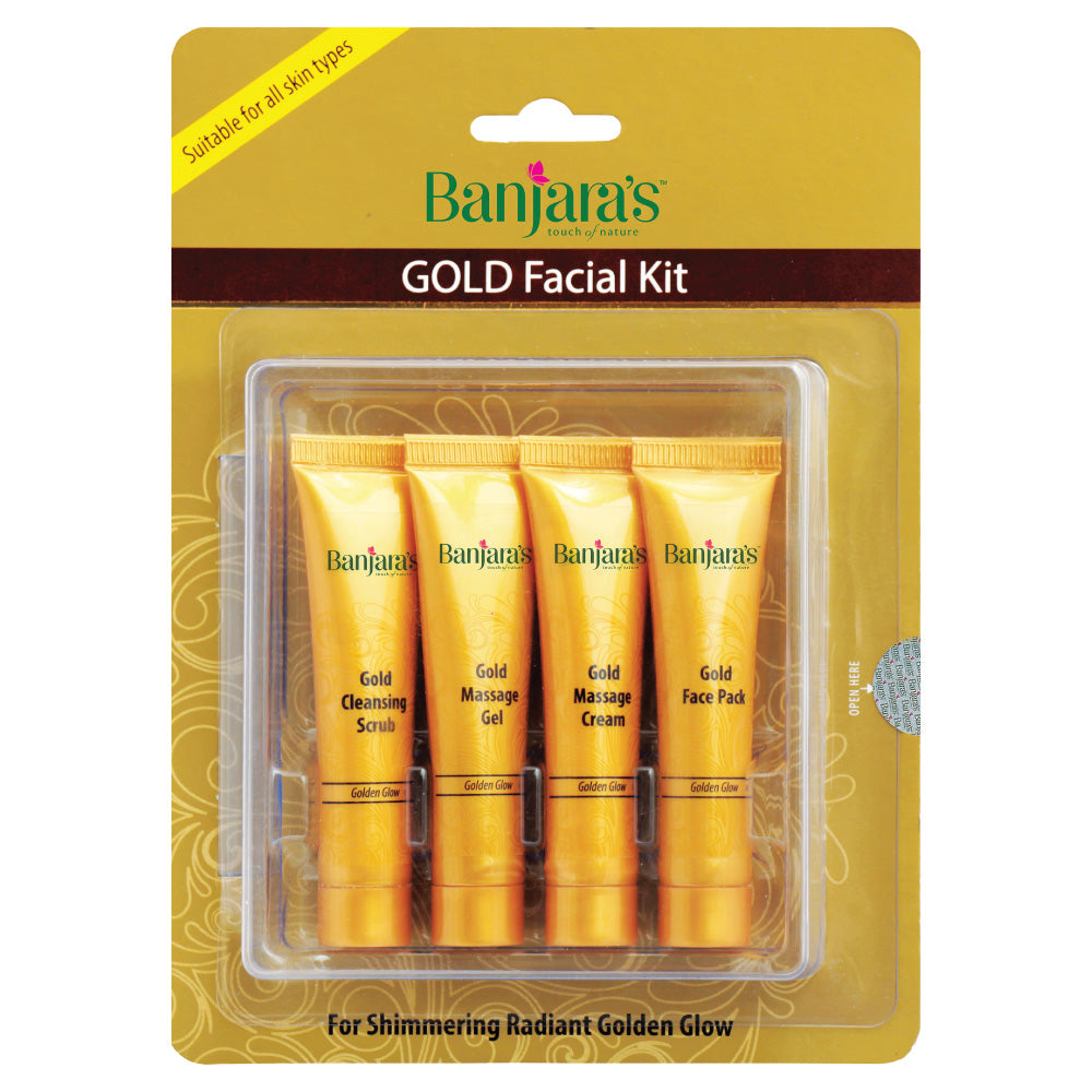 gold facial kit for golden glow