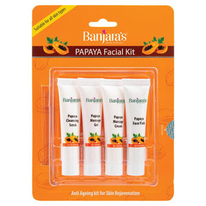 Load image into Gallery viewer, Banjara's Papaya Facial kit (Blister Pack) 15gms*4