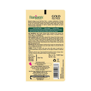 Load image into Gallery viewer, Banjara's Gold Face Pack 50gms (Tube)