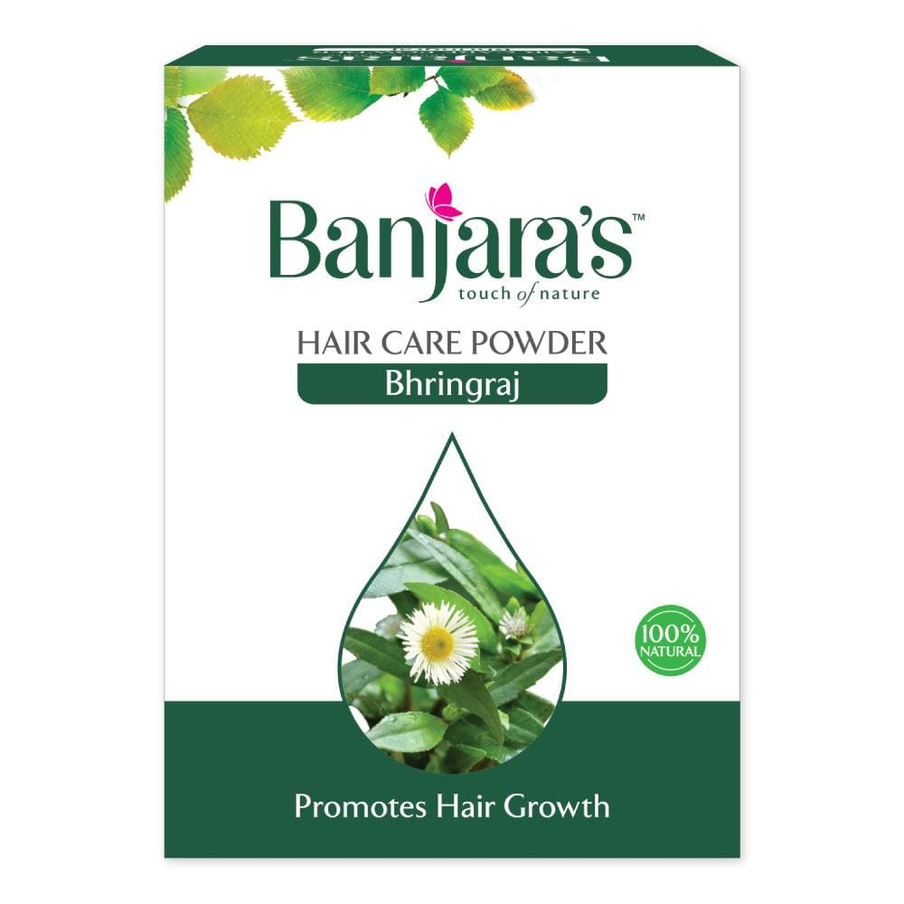 banjaras bhringraj powder for hair growth and darkened hair