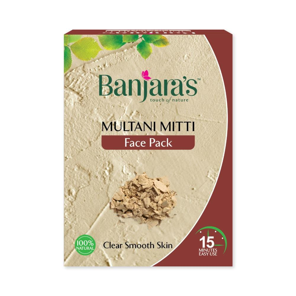 Banjara's Multani Mitti Face Pack Powder 100gms (5*20gms)