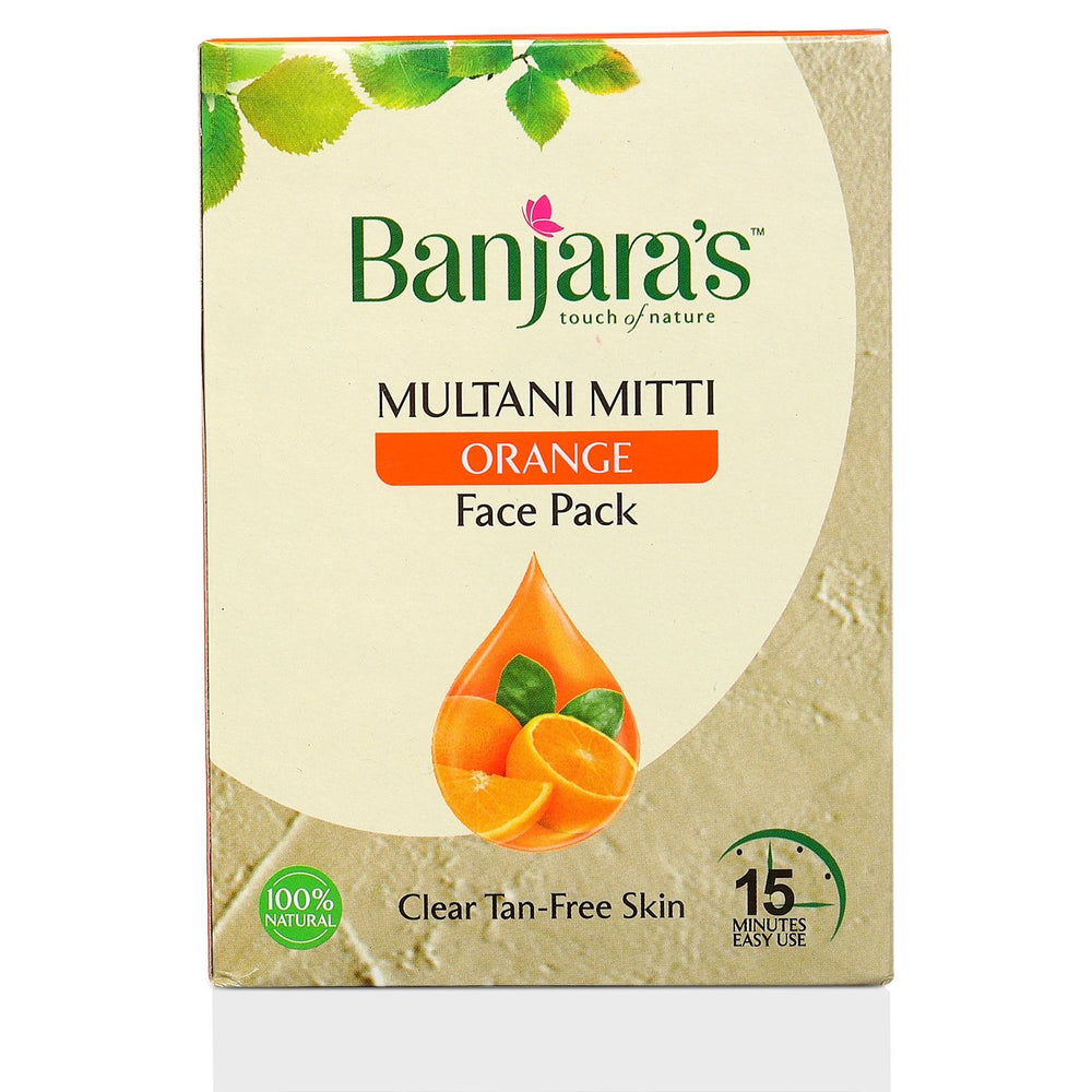 multani mitti facial cleanser with orange