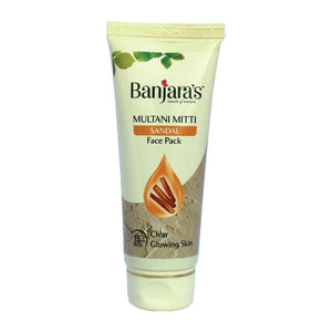 Load image into Gallery viewer, Banjara's Multani Mitti + Sandal Face Pack 50gms (Tube)
