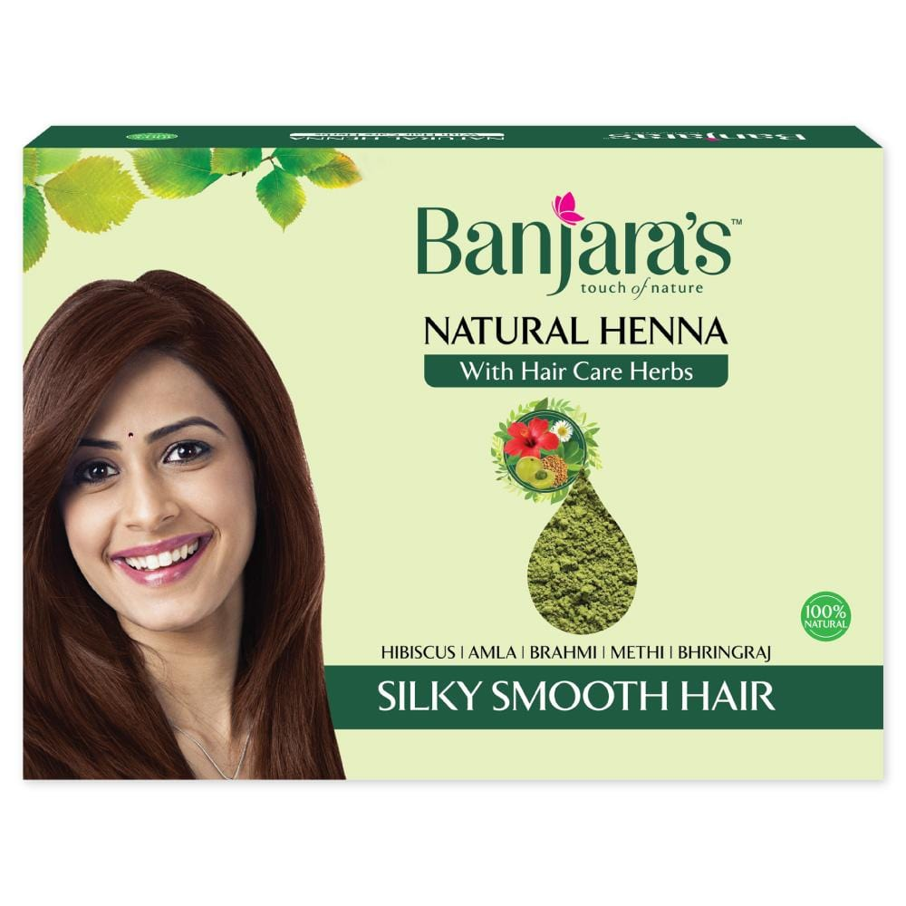 natural henna powder with hair care herbs