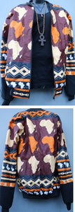 JACKETS - 'Africa World'  Ankara Bomber Jacket