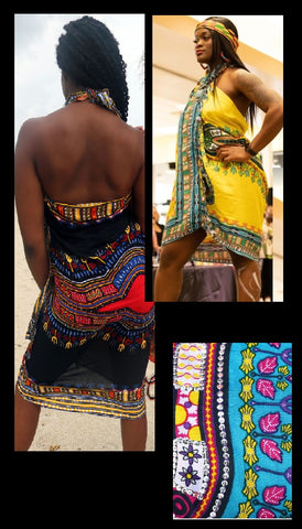 SARONG- Dashiki Design (SEQUINS) (OTHER COLORS)