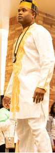 FORMAL SET-Formal West Africa Full Set Ankara Outfit-WHITE