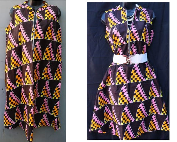 DRESS- A-Line Ankara Dress/Top(OTHER COLORS)