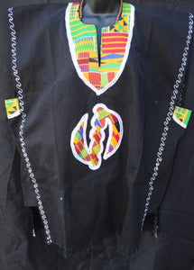 DASHIKI- West African Casual Colored w/ image Dashiki