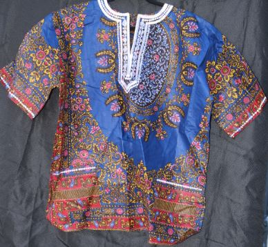 DASHIKI- Ankara Dashiki w/White Embroidery Unisex (Other Colors)
