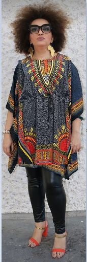 FEMALE DASHIKI/TOP- Design Onesize (OTHER COLORS)