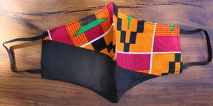 FACE MASK-  Old Kente Cloth Pattern