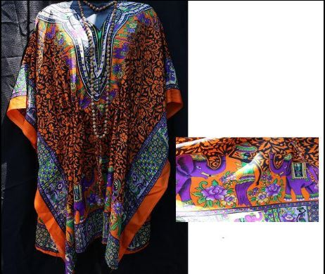 FEMALE DASHIKI- Design w/ Images Onesize (OTHER COLORS)