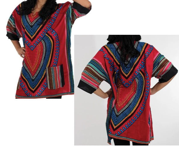 DASHIKI- Unisex Dashiki- 'Heart of Africa'