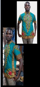DASHIKI- Ankara Dashiki Chinese Collars (Small) (Unisex)