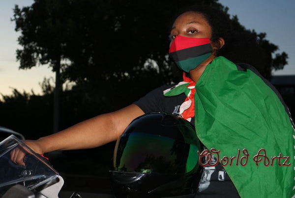 Face Mask - RBG (Red, Black, Green) Pan Africa / Malawi Flag