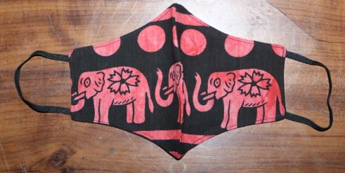 FACE MASK  - 'A Herd of Delta Elephants'