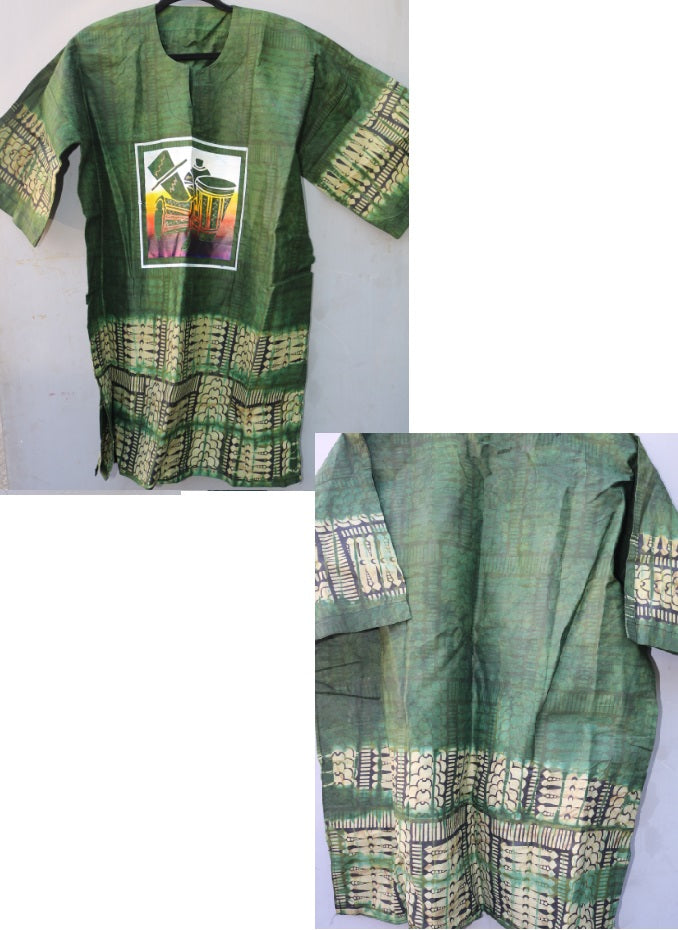 DASHIKI- Hand-Painted Original West African Dashiki