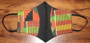 FACE MASK- Kente Cloth Middle Black Stylish