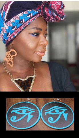 EARRINGS- African Symbols Wood Earrings