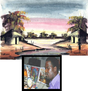 Artwork- Original Watercolor Paintings by Chrisfold Chayera (Mouth Painter)