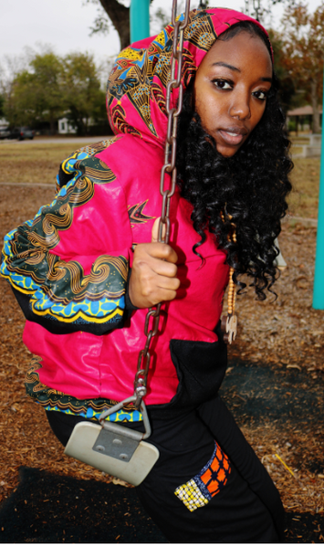 JACKET -'Fuchsia Sensation' Hoodie Pullover Jackets (No Zipper)
