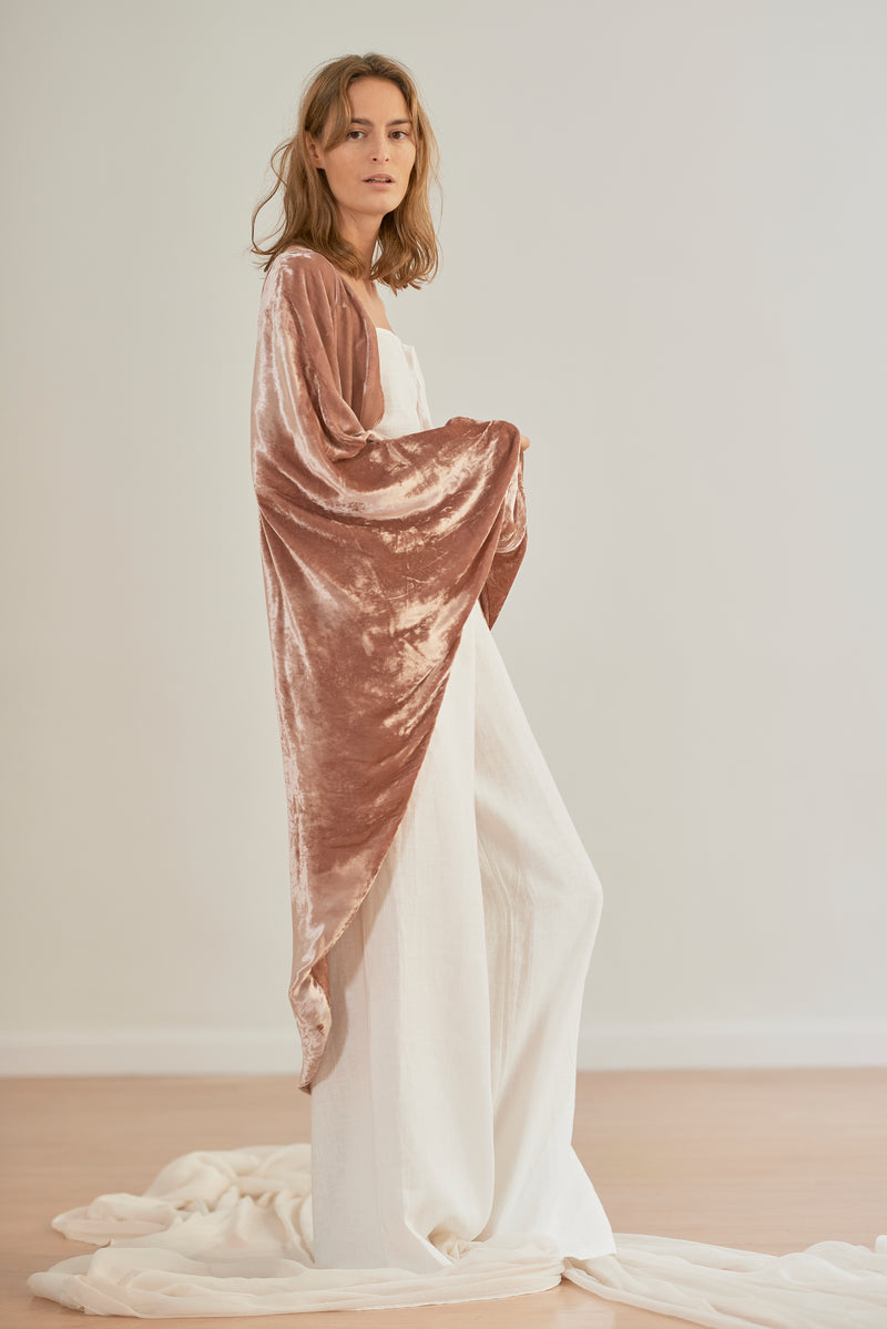 Georgian Pink Velvet Robe