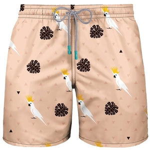 MEN BOARDSHORT - SURF SWIMWEAR COCKATOO BEIGE - FREE SHIPPING