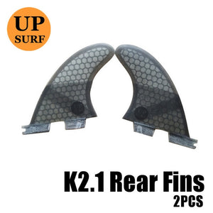 FCS2 Fins k2.1 FCS II Grey thruster fin set Fiberglass tri-quad fins Surf Fins water sports quillas surf