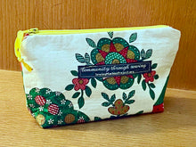 Load image into Gallery viewer, Zipper Bag, Vintage Kitchen Curtain Material