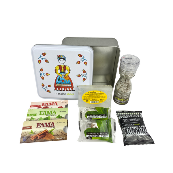 Traditional mastihashop Metal Tin Gift Box