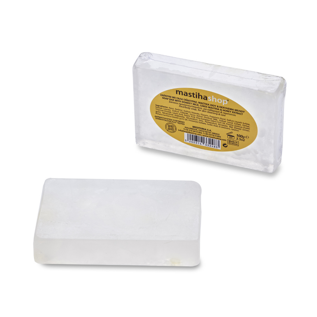 Soap Bar with Donkey Milk, Chios Mastiha & Honey Extract