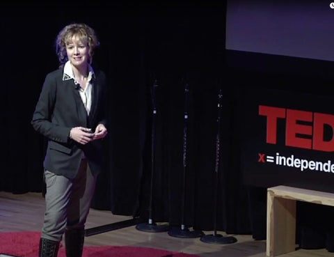 Jamie delivering a TED talk