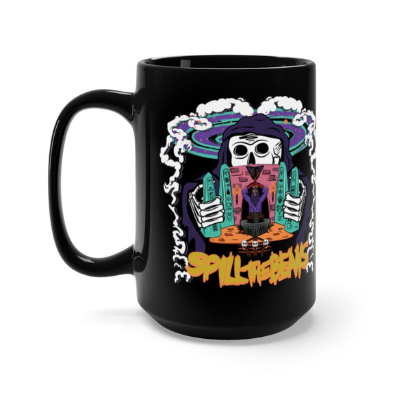 Spill The Beans Black Mug 15oz