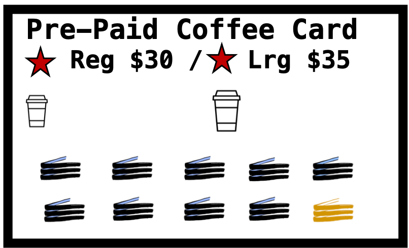 Pre-Paid Coffee Card