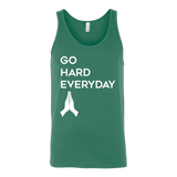 christian apparel, christian clothing, christianity clothing, christian clothing brand, Go Hard Everyday Tank Top - Used by God Clothing, god is just, god logo, active faith, box logo, used by god