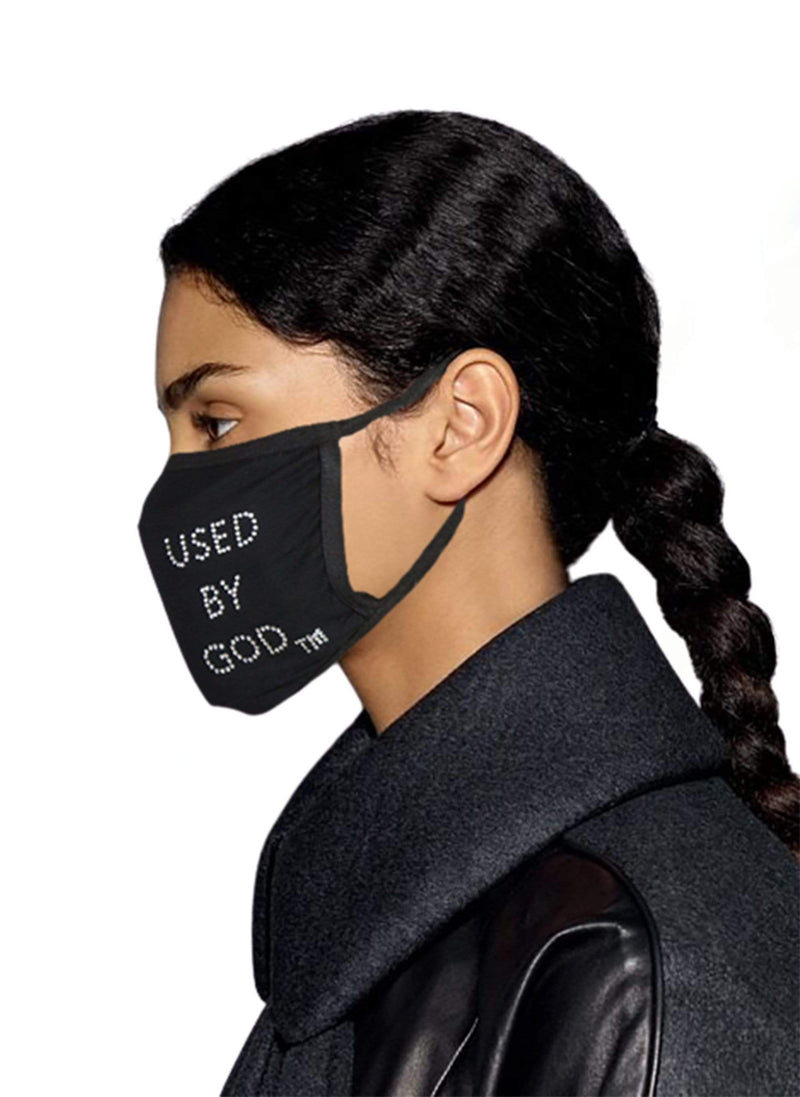 Rhinestone Bling Face Mask Used By God Cotton - TWO FOR $10.99, Enter Code MASK - Used by God Clothing