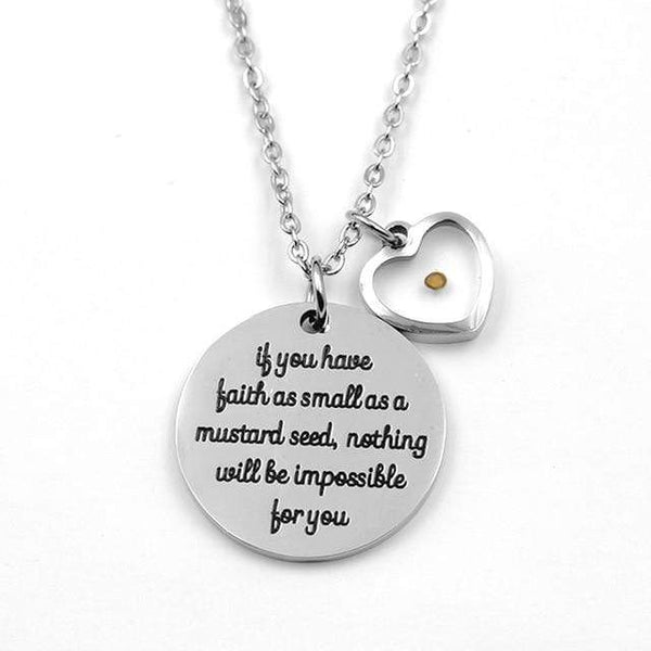 VILLWICE Matthew 17:20 Faith Mustard Seed Women's Necklace - Used by God Clothing