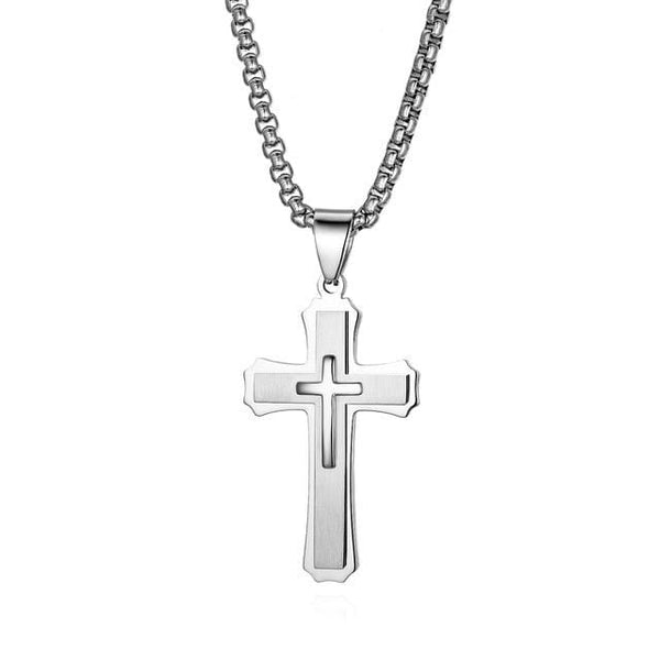 Boniskiss Stainless Steel Easter Cross Necklace - Used by God Clothing