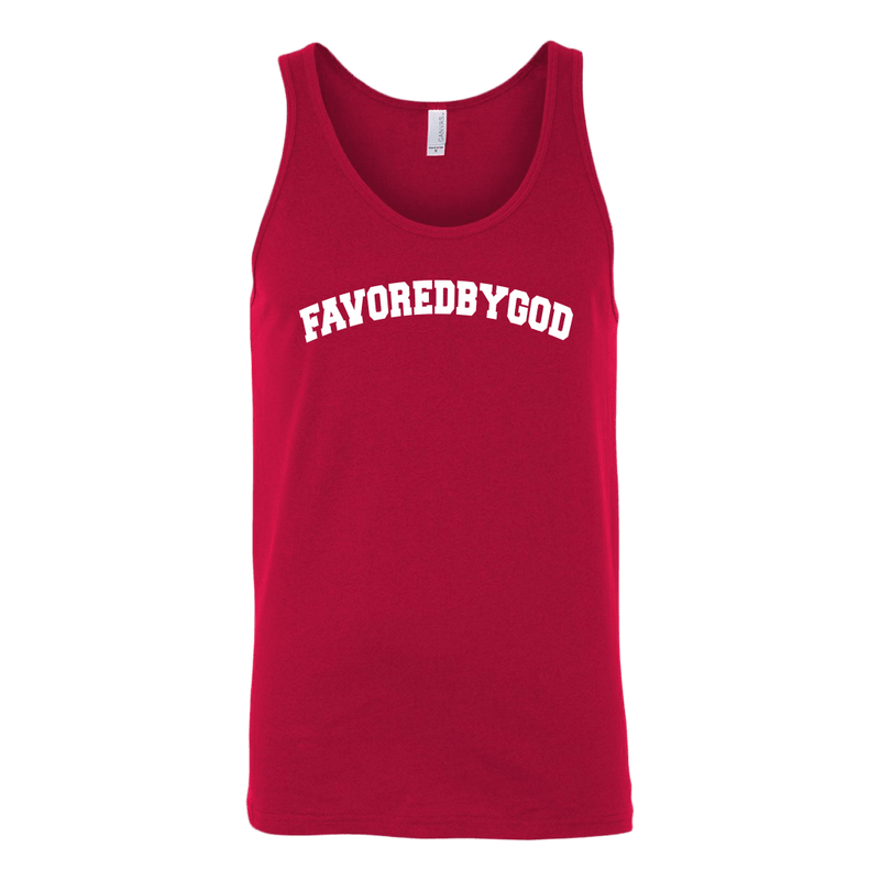 MEN Red / S Favored By God Collegiate Tank christian clothing brand christian tees christian apparel christian shirts christian tshirts faith hoodies christian hoodies used by god clothing favored by god clothing christian clothing faith apparel christian shirts christian tshirts favored by god favored by god clothing used by god clothing christian jewelry christian gifts christian apparel for women christian apparel for men faith over fear christian tank tops christian sportswear christian activewear