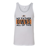 MEN White / S My Father Owns All Of This Tank christian clothing brand christian tees christian apparel christian shirts christian tshirts faith hoodies christian hoodies used by god clothing favored by god clothing christian clothing faith apparel christian shirts christian tshirts favored by god favored by god clothing used by god clothing christian jewelry christian gifts christian apparel for women christian apparel for men faith over fear christian tank tops christian sportswear christian activewear