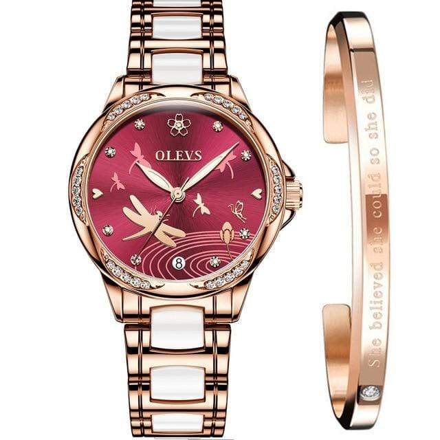 OLEVS Automatic Mechanical Diamond Simple Women's Watch - Used by God Clothing