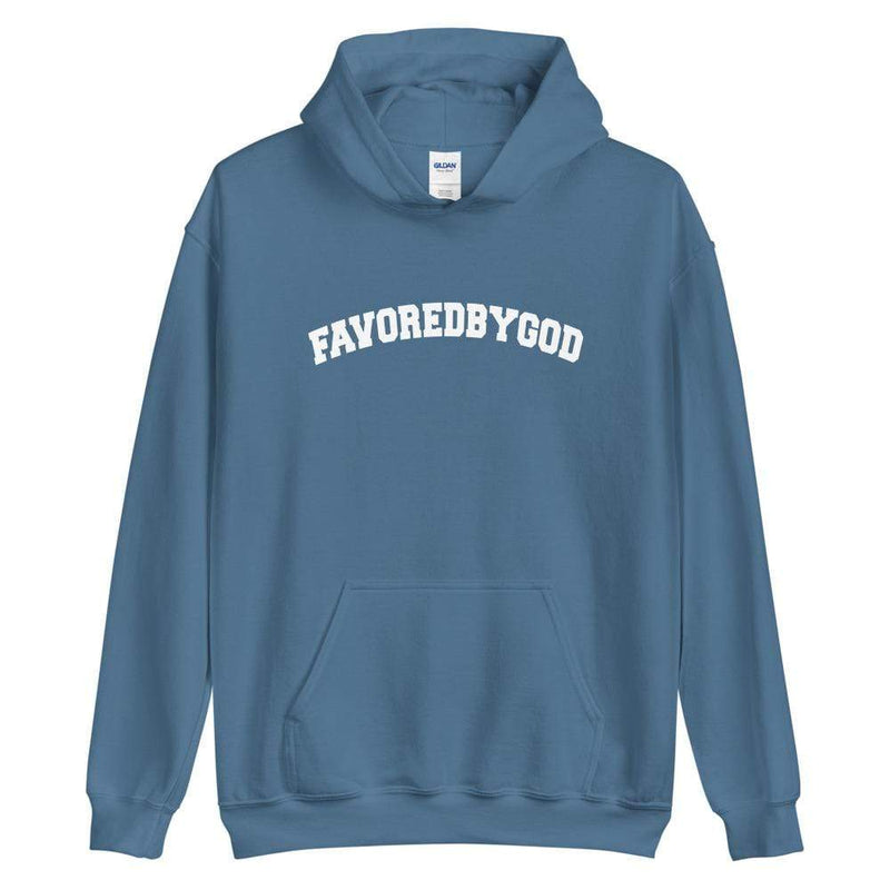 Favored By God Collegiate Women's Hoodie - Used by God Clothing