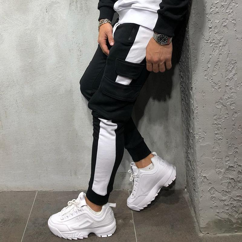 Sport Patchwork Multi-Pocket Casual Pants