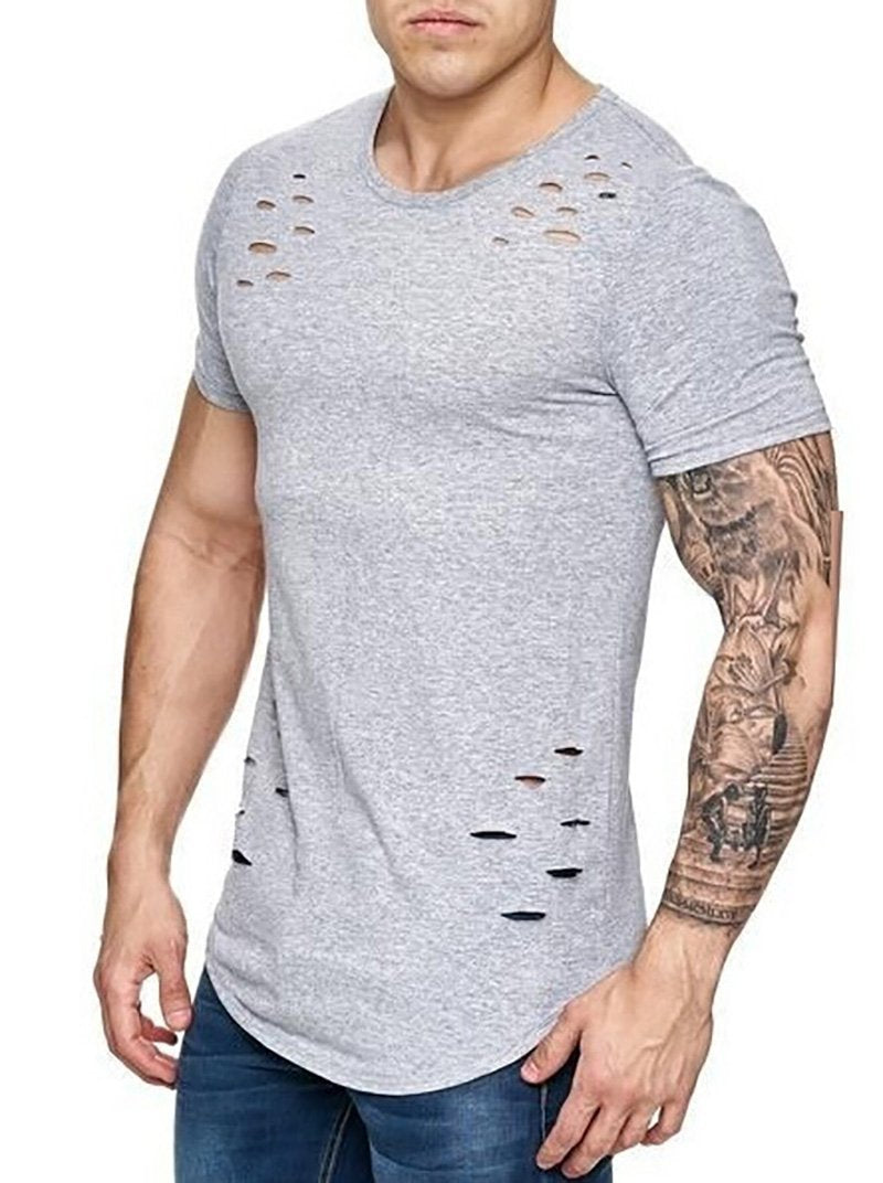 Men's Loose Solid Color T-Shirt