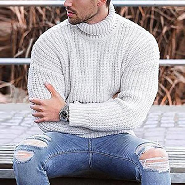 Winter Pure Colour High Collar Sweater