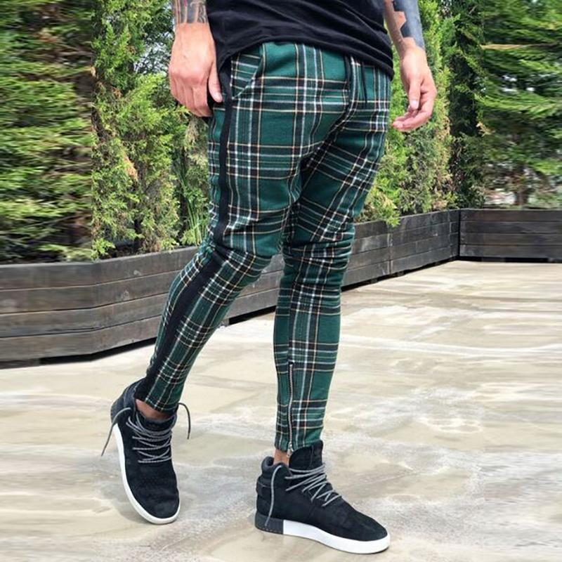 New European And American Plaid Trousers