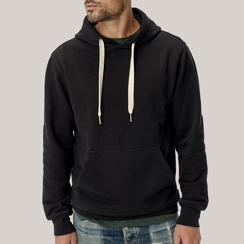 Sportive Hooded Pure Color Long Sleeve Sweatshirt