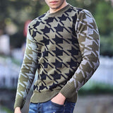Men's Casual Printed Crew Neck Sweater
