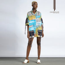 Load image into Gallery viewer, Fabric Pocket Shirt Dress